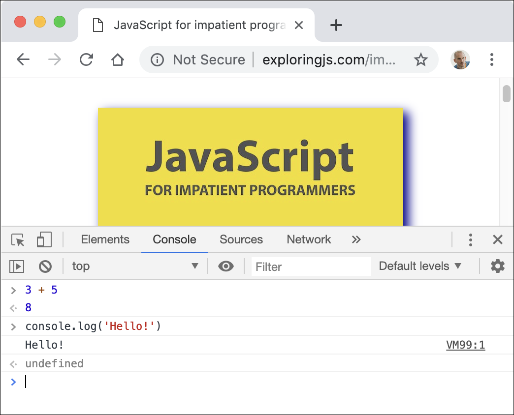Consoles: interactive JavaScript command lines • JavaScript